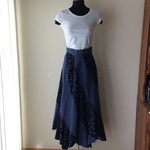 Vintage Winter Full Circle Maxi Skirt Twist Style